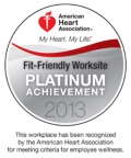 American Heart Association - Fit-Friendly Worksite Platinum Achievement 2013
