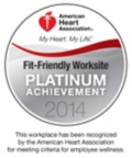 American Heart Association - Fit-Friendly Worksite Platinum Achievement 2014