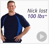 Nick lost 100 pounds