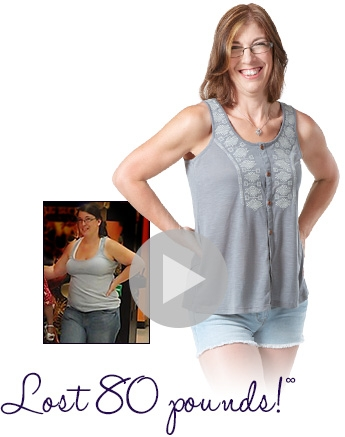 Before and after weight loss - Katrina lost 80 pounds working out on a TreadClimber