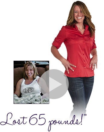 Before and after - Sherri lost 65 pounds
